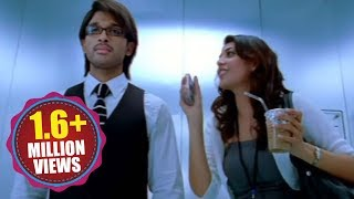 Allu Arjun And Kajal Agarwal Kiss Scene In Lift...