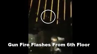 🔫 Las Vegas Shooting: Taxi Cam Gun Flashes From 6th Floor Mandalay Bay - GRAPHIC WARNING -