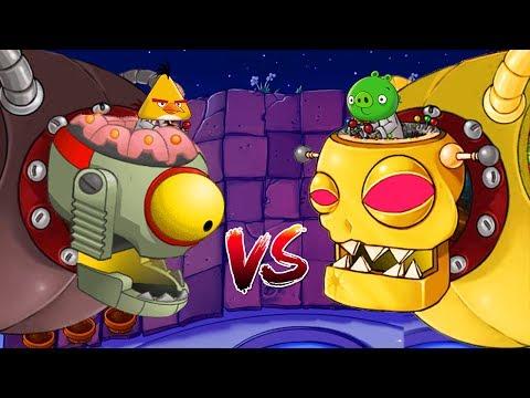 Plants vs Zombies Mod Angry Birds - FINAL ZOMBOSS FIGHT!