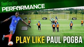 How to play like Paul Pogba | Run the midfield | Soccer shooting drill