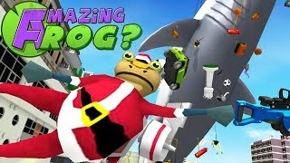 DECORATING THE CHRISTMAS SHARK AS SANTA FROG! - Amazing Frog - Part 126 | Pungence