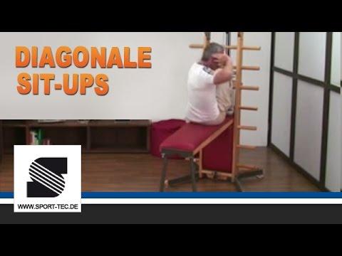 Waterworkx Übung 3/33 Diagonale Sit ups