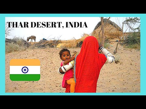 INDIA, an isolated HINDU VILLAGE in the THAR DESERT (close to PAKISTAN border)
