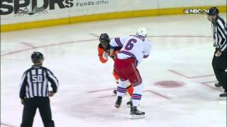 Gotta See It: Simmonds & McIlrath trade fists after jawing during warmups