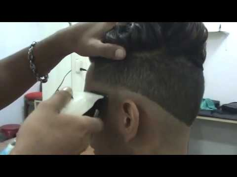 Tutorial de barberia corte Degradado con navaja