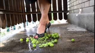 grapes crushing with skull peep toe heels