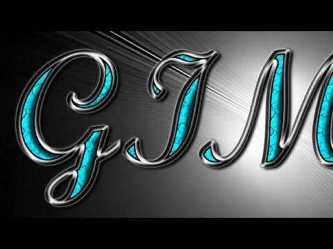 GIMP Text Effects Silver with Turquoise Gemstones