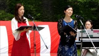 ●ボーカルアンサンブル♪ロッシュ♪メドレーIn広島植物公園さくらステージ②