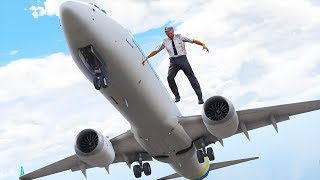 Pilot Jumps Out Of Boeing 737 | GTA 5