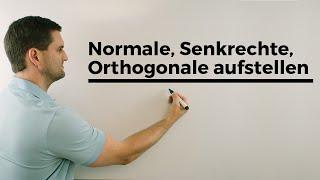 Normale, Senkrechte, Orthogonale aufstellen, Funktionen   Mathe by Daniel Jung