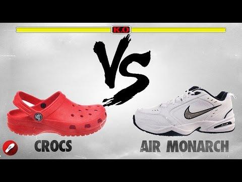 Crocs vs Nike Air Monarch!