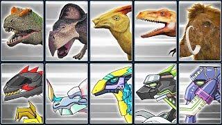 3D Dino Skeletons + Dino Robot Corps #3 | Eftsei Gaming