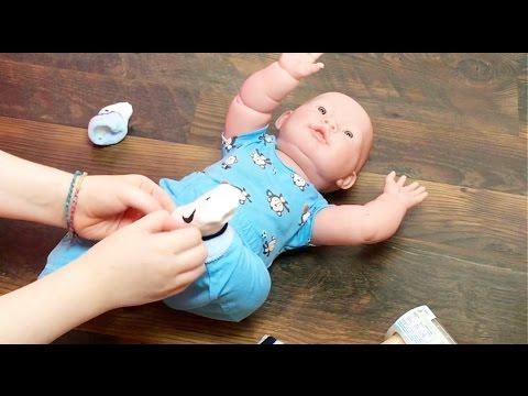 Berenguer Baby Boy Doll Walmart Haul and Changing Feeding Video