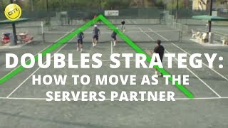 Tennis Doubles Strategy: How To Move As The Servers Partner