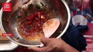 Bangkok Street Food | Thai Spicy Noodle Salad With Pork Sausage And Sea Food - Isaraphap | Thai Food