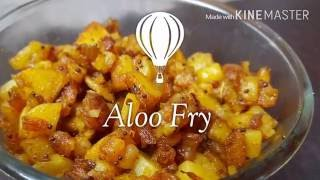 Aaloo/Potato fry - Andhra Style (In Less Than 5 Minutes!!)