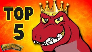 Top 5 Dinosaur Songs | Best Dinosaur Cartoons for Kids from Dinostory by Howdytoons