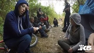 Busting up a heroin camp, with no arrests