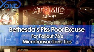 Bethesda's Piss Poor Excuse For Fallout 76 Microtransactions Lies