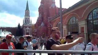 Polish football fans in Moscow June 19