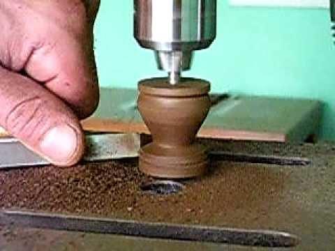 Dando forma a peça de xadrez