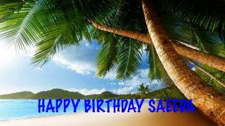 Saeeda  Beaches Playas - Happy Birthday