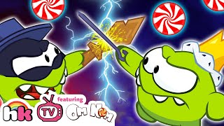 OM NOM WAR - Thief vs King   Cut The Rope   Funny Cartoons for Kids by HooplaKidz TV