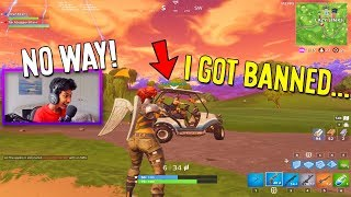 I played Fortnite with my BIGGEST Fan & he got BANNED for HACKS... (Fortnite: Battle Royale)