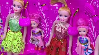 Barbie Dolls MakeUp with her babies | Barbie Doll MakeUp set and babies