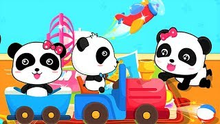 Baby Play Animated Stickers - Learn Vehicles Animals Educational Children Game