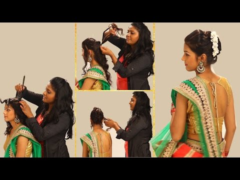 Xxx Mp4 Indian Simple Hairstyles For Wedding To Do Yourself Twist And Flip Bun Hairstyle ForTraditional Sari 3gp Sex
