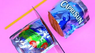 How To Make Real CAPRISUN Drinking Water Pudding Jelly Cooking Learn the Recipe DIY 리얼 콜라 푸딩 젤리 만들기