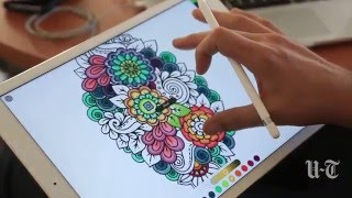 Coloring for adults, now without crayons!