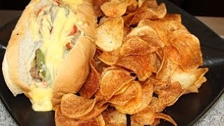 Steak Sandwich with Homemade Chips (Saturday Meal) How - To -Make