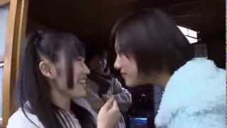 AKB48 Miyazawa Sae & Watanabe Mayou  Couple Kissing scene rehersal japan