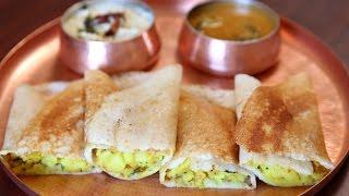 Masala Dosa Recipe | Popular South Indian Breakfast Recipe | Divine Taste With Anushruti