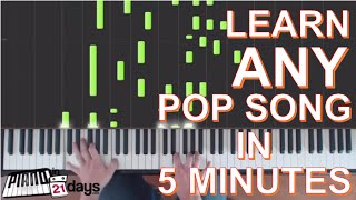 How to Play Piano - Learn Pop Songs on the Piano in 5 Minutes