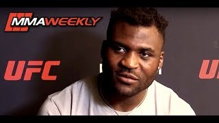 Francis Ngannou FULL Media Scrum: Doesn't Think Junior dos Santos is a Black Belt  (UFC on ESPN 3)