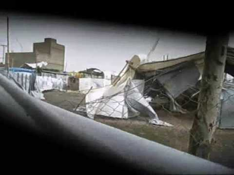 THE SEVERITY OF RAIN AND WIND STORM AT JALOZAI IDP's CAMP