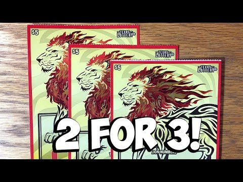 Xxx Mp4 3 MORE 3X Lion S Share ✦ TEXAS LOTTERY Scratch Off Tickets 3gp Sex