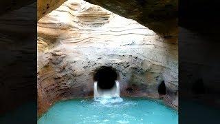 guy finds secret underground water slide..