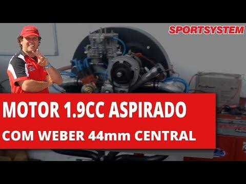 MOTOR 1.9CC ASPIRADO COM WEBER 44mm CENTRAL