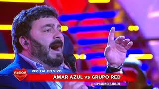 Amar Azul Vs Grupo Red contrapunto en vivo en Pasion de Sabado 7 10 2017 parte 1