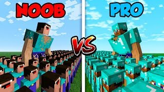 Minecraft NOOB vs. PRO: NOOB ARMY vs. PRO ARMY! in Minecraft!