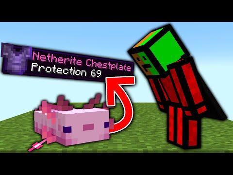 Minecraft But Axolotls Drop OP Items