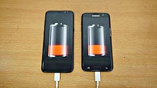 Samsung Galaxy S8 Plus vs S7 Edge - Battery Drain Test! (4K)