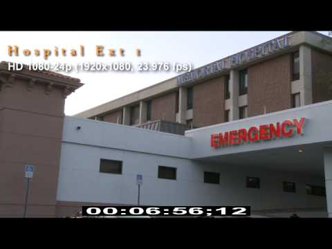 Hospital Exterior - Day - Emergency - Patient Pick Up - HD Stock Video - HD Stock Footage