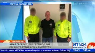 Jhon Jairo Velásquez, alias Popeye, fue capturado en la ciudad colombiana de Medellín