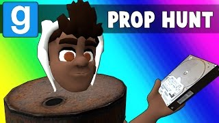 Gmod Prop Hunt Funny Moments - Barrel Room Strategy! (Garry