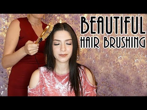 Beautiful, Calming Hair brushing sounds with Ear to Ear ASMR whisper
